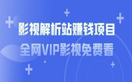 影视解析站赚钱项目:全网VIP影视免费看